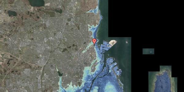 Stomflod og havvand på Svanemøllens Kaserne 91, 2100 København Ø