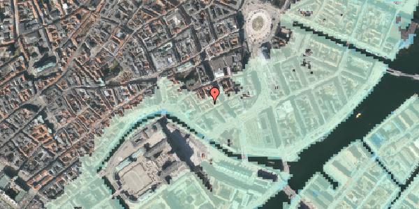 Stomflod og havvand på Nikolajgade 22, 1068 København K
