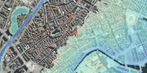 Stomflod og havvand på Klosterstræde 10A, 1157 København K
