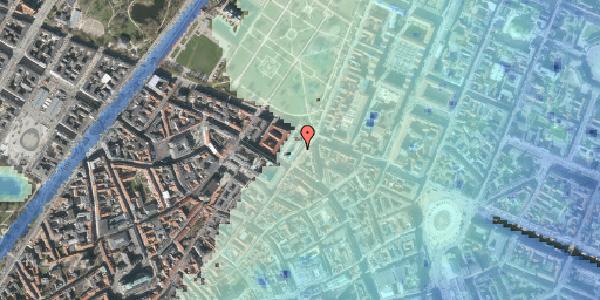 Stomflod og havvand på Møntergade 19B, 1116 København K