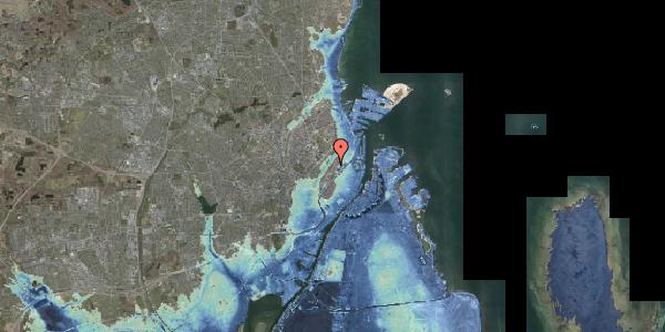 Stomflod og havvand på Abildgaardsgade 21, 2100 København Ø