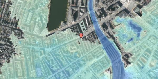 Stomflod og havvand på Vesterbrogade 13, kl. 1, 1620 København V