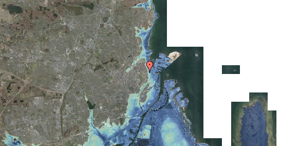 Stomflod og havvand på Østerfælled Torv 18, 2100 København Ø