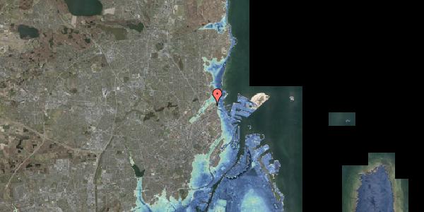 Stomflod og havvand på Svanemøllens Kaserne 99, 2100 København Ø