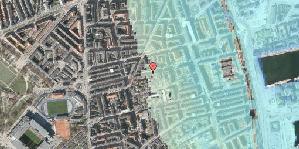 Stomflod og havvand på Viborggade 70, 2100 København Ø