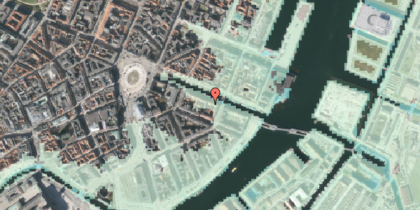 Stomflod og havvand på Nyhavn 20B, 1051 København K