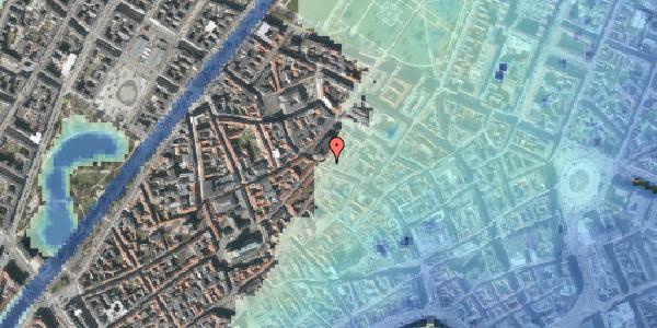 Stomflod og havvand på Købmagergade 52, kl. , 1150 København K