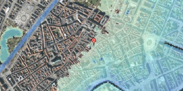 Stomflod og havvand på Købmagergade 35, 1150 København K