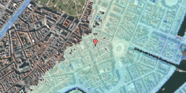 Stomflod og havvand på Grønnegade 10, 4. , 1107 København K