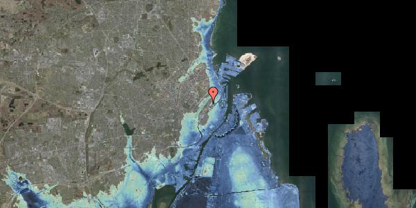 Stomflod og havvand på Wilhelm Marstrands Gade 1, 2100 København Ø