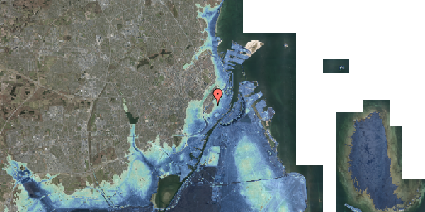 Stomflod og havvand på Købmagergade 65E, 1. , 1150 København K