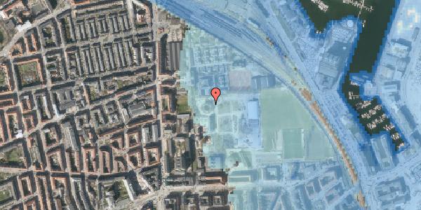 Stomflod og havvand på Nyborggade 23, 2100 København Ø
