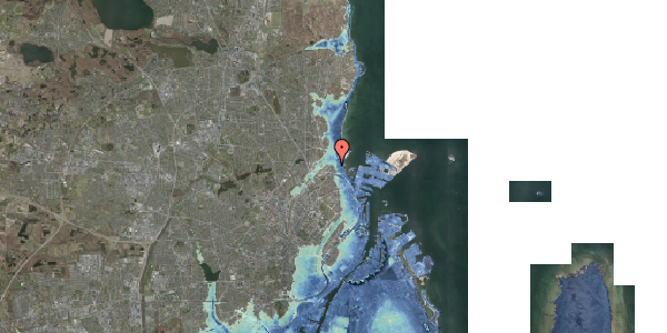 Stomflod og havvand på Vangehusvej 5, 2100 København Ø