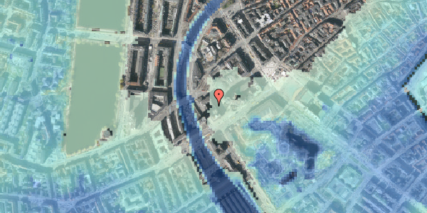 Stomflod og havvand på Axeltorv 1, 4. , 1609 København V