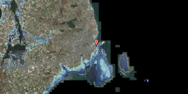 Stomflod og havvand på Øster Allé 62, 2100 København Ø