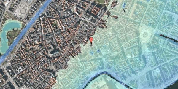 Stomflod og havvand på Valkendorfsgade 9, kl. , 1151 København K
