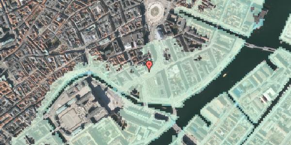 Stomflod og havvand på Holmens Kanal 16, 3. , 1060 København K