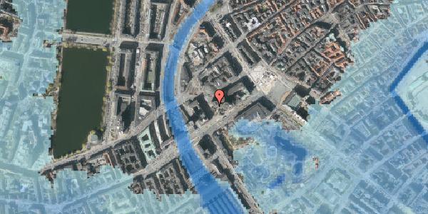 Stomflod og havvand på Axeltorv 2M, 1609 København V