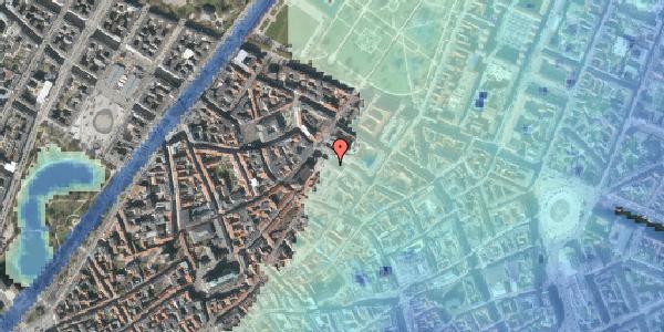 Stomflod og havvand på Pilestræde 65, 1112 København K