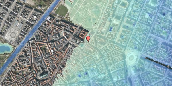Stomflod og havvand på Vognmagergade 5, 6. tv, 1120 København K