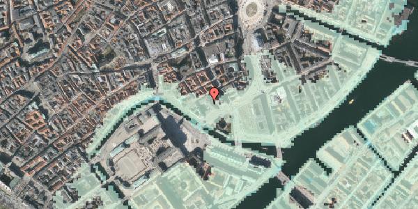 Stomflod og havvand på Admiralgade 29, 1066 København K