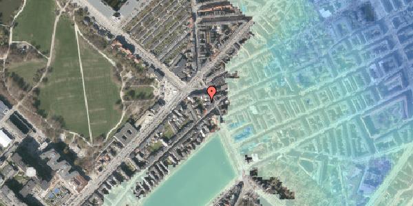 Stomflod og havvand på Østerbrogade 25A, 2100 København Ø