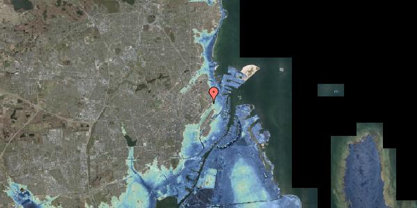 Stomflod og havvand på Øster Allé 1, 2. , 2100 København Ø