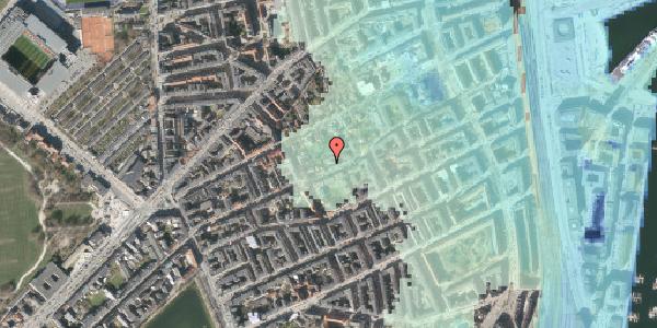 Stomflod og havvand på Rosenvængets Allé 37A, 2100 København Ø