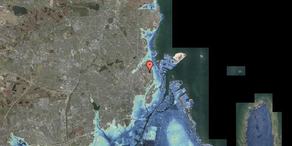 Stomflod og havvand på Jagtvej 183D, 2100 København Ø