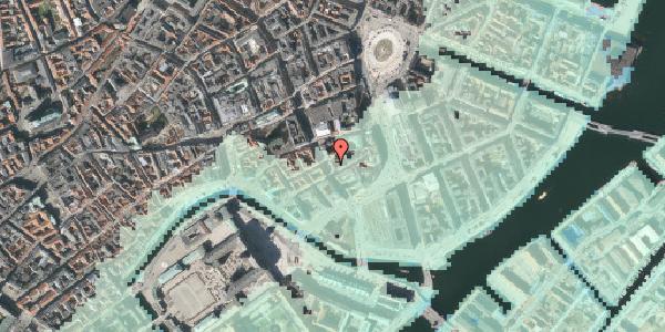 Stomflod og havvand på Bremerholm 31, 1069 København K