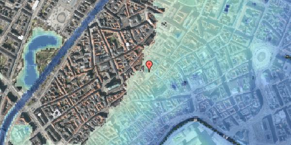 Stomflod og havvand på Gråbrødretorv 8, 1154 København K