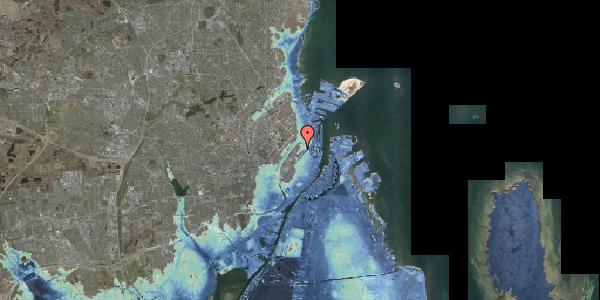 Stomflod og havvand på Hjalmar Brantings Plads 9, 2100 København Ø