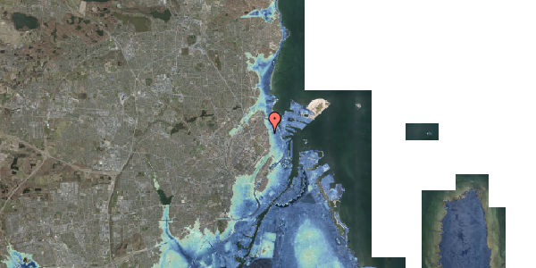 Stomflod og havvand på Vordingborggade 4, kl. , 2100 København Ø
