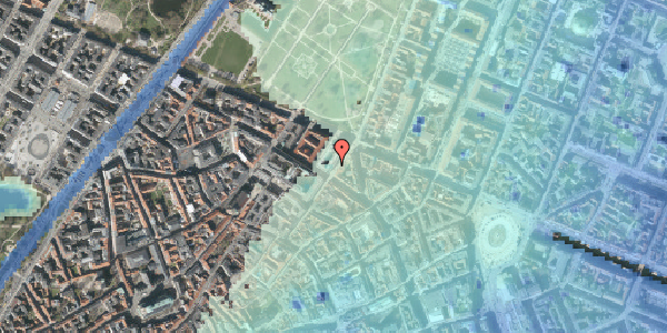 Stomflod og havvand på Møntergade 19, 2. tv, 1116 København K