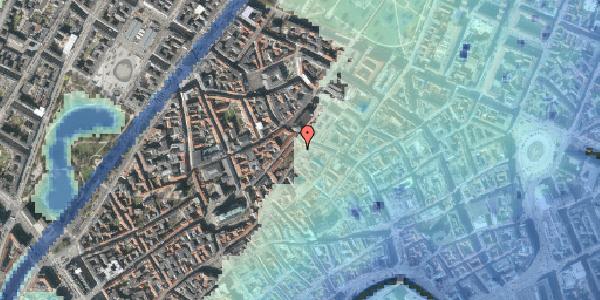 Stomflod og havvand på Skindergade 6, 4. , 1159 København K