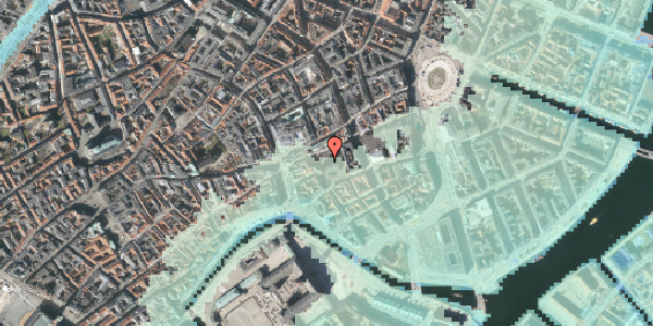 Stomflod og havvand på Nikolaj Plads 10, 1. , 1067 København K