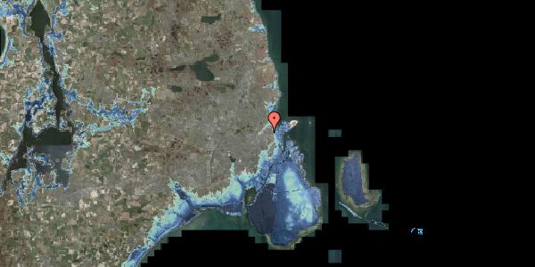Stomflod og havvand på Lyngbyvej 28, 2100 København Ø