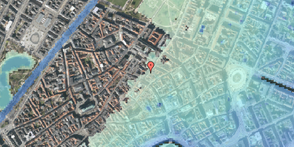 Stomflod og havvand på Klareboderne 3, 1115 København K