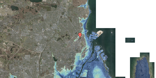 Stomflod og havvand på Rovsingsgade 40, 3. , 2100 København Ø