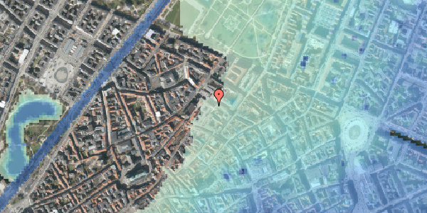 Stomflod og havvand på Pilestræde 63, 3. , 1112 København K
