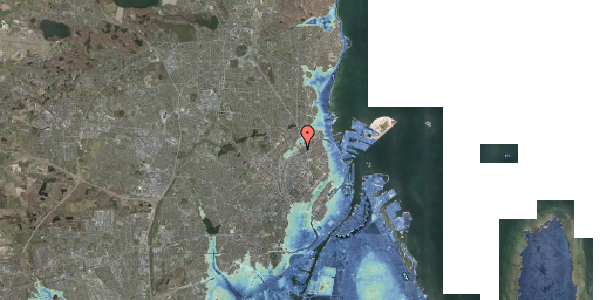 Stomflod og havvand på Rovsingsgade 29B, 2100 København Ø
