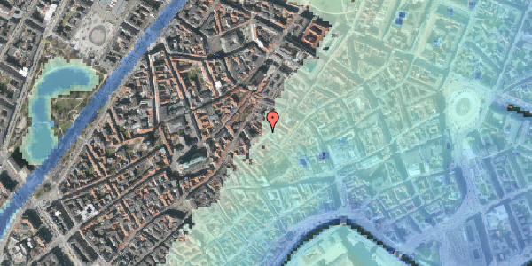 Stomflod og havvand på Gråbrødretorv 2, kl. , 1154 København K