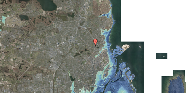 Stomflod og havvand på Rødhalsgangen 2, 2400 København NV