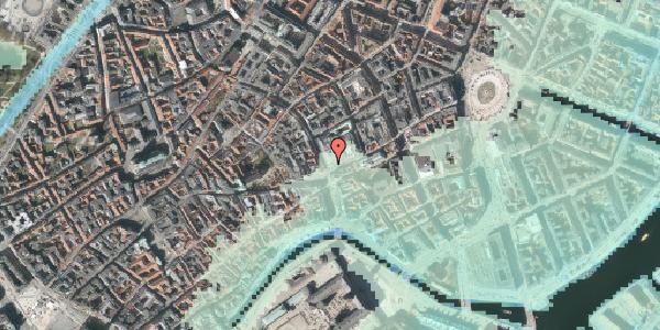 Stomflod og havvand på Købmagergade 2, 1150 København K