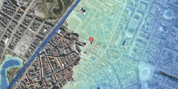 Stomflod og havvand på Landemærket 26, 1119 København K