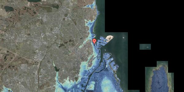 Stomflod og havvand på Østerbrogade 160A, 2100 København Ø