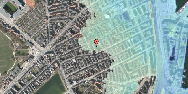 Stomflod og havvand på Saabyesvej 8, kl. 7, 2100 København Ø