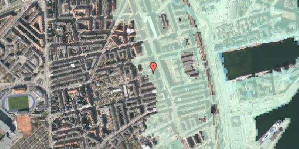 Stomflod og havvand på Vejlegade 10, kl. 7, 2100 København Ø