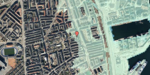 Stomflod og havvand på Vejlegade 10, kl. 6, 2100 København Ø