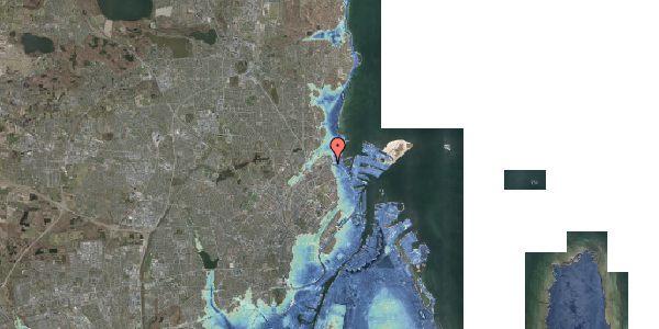 Stomflod og havvand på Edvard Griegs Gade 14B, 2100 København Ø